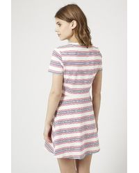 TOPSHOP - Multicolor Striped Skater Dress - Lyst