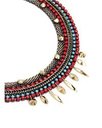 Iosselliani | Blue Multichain Collar Necklace | Lyst