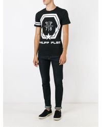 Philipp Plein - Black 'rebellion' T-shirt for Men - Lyst