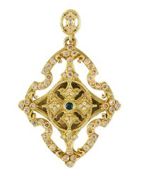 Armenta - Metallic Sueno 18k Yellow Gold & Diamond Cross Enhancer - Lyst