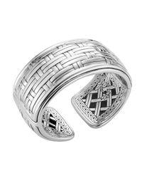 John Hardy | Metallic Basket-weave Silver Kick Cuff | Lyst