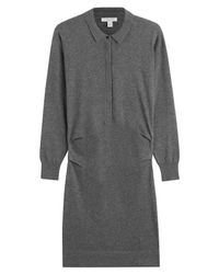 Burberry Brit - Gray Cashmere-cotton Dress - Grey - Lyst