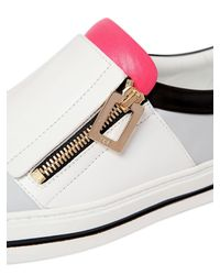 Roger Vivier - Multicolor 25mm Zip-up Leather Slip-on Sneakers - Lyst