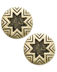 House of Harlow 1960 | Metallic Gold-tone Sunburst Button Post Earrings | Lyst