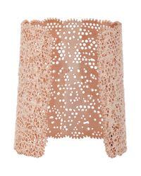 Aurelie Bidermann - Pink Vintage Lace Cuff - Lyst
