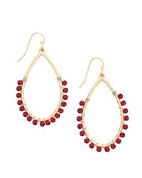 Ana Accessories Inc - Red Could It Bead? Earrings - Lyst