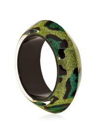 Nicholas King - Green Leopard Ufo Bangle Bracelet - Lyst