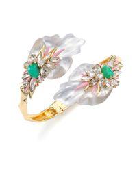 Alexis Bittar - Multicolor Desert Jasmine Lucite, Chrysoprase & Crystal Punk Orchid Bypass Bracelet - Lyst