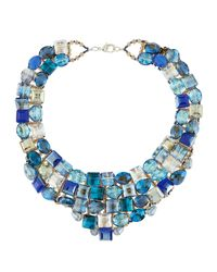 Panacea - Blue Crystal Statement Necklace - Lyst
