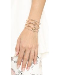 Alexis Bittar | Pink Scattered Crystal Barbed Cuff - Rose Gold/clear | Lyst