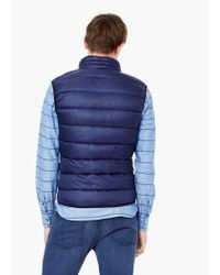 Mango - Blue Paneled Quilted Gilet for Men - Lyst