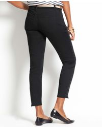 Ann Taylor - Gray Petite Curvy Zip Ankle Jeans - Lyst