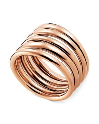 Calvin Klein | Metallic Rose Gold-tone Pvd Multi-row Ring | Lyst