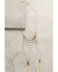 Anthropologie | Metallic Tassel Blaze Necklace | Lyst