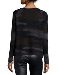 Townsen - Black Long-sleeve Camouflage Sweater - Lyst