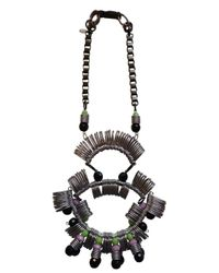 Kirsty Ward | Metallic Pewter & Black Statement Necklace - Last One | Lyst