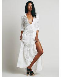 For Love & Lemons - White Breezy Maxi Dress - Lyst