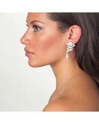 Ben-Amun | Metallic Crystal Double Drop Earrings | Lyst