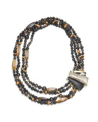 Alexis Bittar - Metallic Crocodile Texture Multi Strand Necklace - Lyst