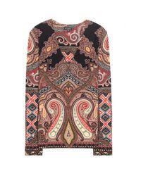 Etro - Multicolor Printed Wool-blend Top - Lyst