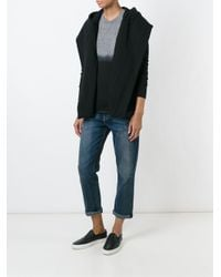 Bliss and Mischief - Black Shawl Front Hoodie - Lyst