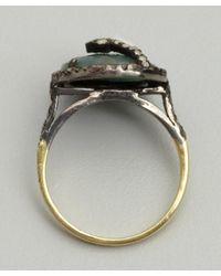 Amrapali - Green Emerald and Diamond Ring - Lyst