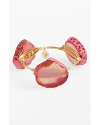 Bourbon and Boweties | Pink Large Dyed Agate Bracelet | Lyst