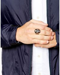 Simon Carter | Metallic Antiqued Skull Ring Exclusive To Asos for Men | Lyst
