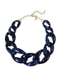 Kenneth Jay Lane | Blue Resin Chainlink Necklace | Lyst