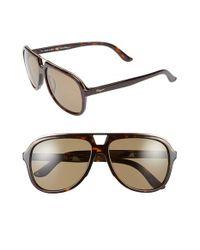 Ferragamo - Brown 57mm Aviator Sunglasses for Men - Lyst