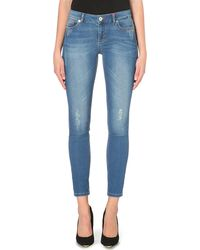5d632d61582012 Ted Baker Frossia Skinny Abrasion Jeans Light Wash in Blue - Lyst