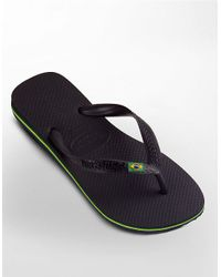 Havaianas | Black Brazil Thong Sandals for Men | Lyst