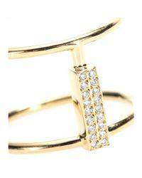 Ileana Makri | 18kt Yellow Gold Ring With White Diamonds | Lyst