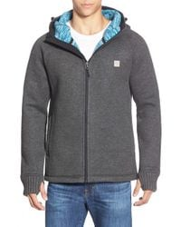 Bench | Black Knit Zip Hoodie for Men | Lyst