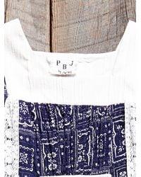Free People - Blue Vintage Embroidered Bandana Print Dress - Lyst