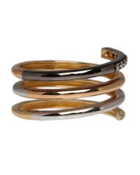 Ruby Kovo - Metallic Tones Of Gold Diamond Spiral Ring - Lyst