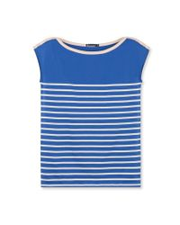 Petit Bateau | Blue Women's Sailor-stripe Tee | Lyst