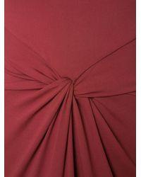 Michael Kors - Red Fitted Twist Dress - Lyst
