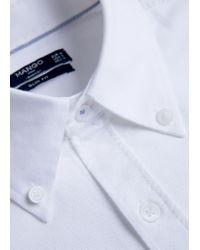 Mango - White Slim-fit Cotton Oxford Shirt for Men - Lyst