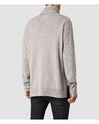 AllSaints | Gray Arley Funnel Jumper for Men | Lyst