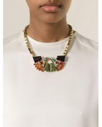 Anton Heunis - Metallic Crystal Embellished Necklace - Lyst