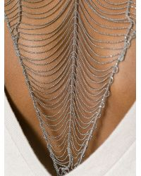 Brunello Cucinelli - Natural Bead Chain Back Sweater - Lyst