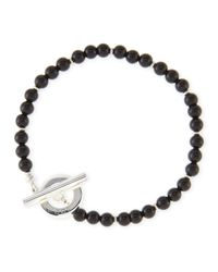 Gucci - Black Men'S Sterling Silver Boule Bracelet for Men - Lyst
