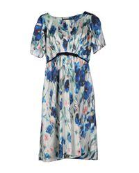 Twin Set - Blue Short Dress - Lyst