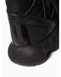 Y-3 | Black Kyujo High Sneakers for Men | Lyst