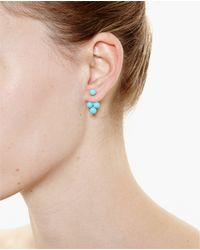 Yvonne Léon - Metallic 18Kt Gold And Turquoise Pearl Trilogy Earring - Lyst