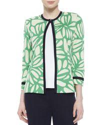 Misook - Multicolor Flower Petal 3/4-sleeve Jacket - Lyst
