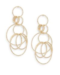 Saks Fifth Avenue | Metallic Multi-ring Drop Earrings/goldtone | Lyst