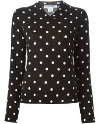 Comme des Garçons - Black Dotted Print Sweater - Lyst