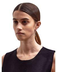 Lauren Klassen - Metallic Gold Tiny Key Chain Earring - Lyst